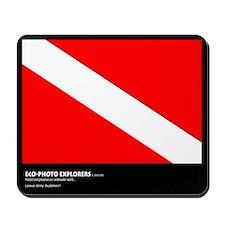 Eco-Photo Explorers, Diver Down Flag, Mousepad