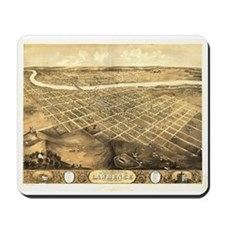 Lawrence, Kansas 1869 Mousepad