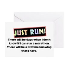 Marathon Runner's Greeting Card