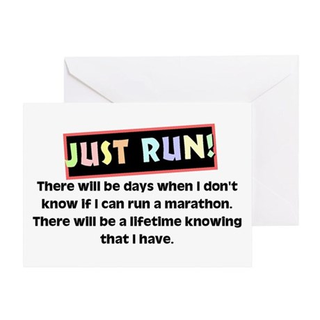 Marathon Runner's Greeting Card