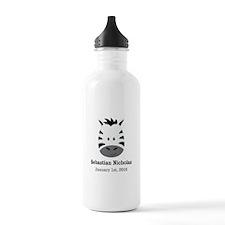 CUSTOM Zebra w/Name Date Water Bottle