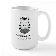 CUSTOM Zebra w/Name Date Mugs