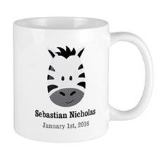 CUSTOM Zebra w/Name Date Mugs