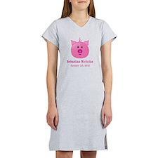 CUSTOM Pig w/Baby Name and Birthdate Women's Night