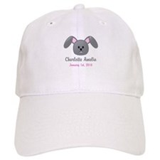 CUSTOM Bunny w/Baby Name and Birthdate Baseball Ca