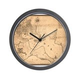 Antique map of Baltimore,1912 Wall Clock