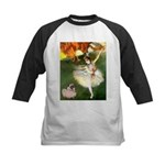 Dancer 1 & fawn Pug Kids Baseball Jersey