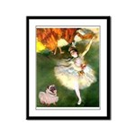 Dancer 1 & fawn Pug Framed Panel Print