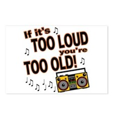 If It's Too Loud You're Too Old Postcards (Package