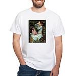 Ophelia / Fawn Pug White T-Shirt