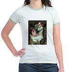 Ophelia / Fawn Pug Jr. Ringer T-Shirt