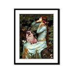 Ophelia / Fawn Pug Framed Panel Print