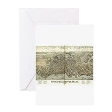 City of Fall River, Mass 1877 Greeting Card
