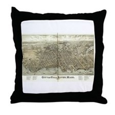 City of Fall River, Mass 1877 Throw Pillow