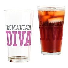Romanian Diva Drinking Glass