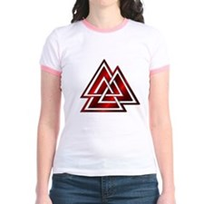 Red Valknut Jr. Ringer T-shirt