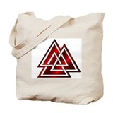 Red Valknut Tote Bag