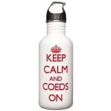 Keep Calm and Coeds ON Water Bottle