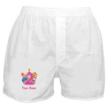 CUSTOM 2 years old Pink Boxer Shorts