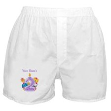 CUSTOM 2 Years Old Purple Boxer Shorts