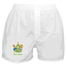CUSTOM 2 Years Old Green Boxer Shorts