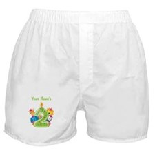CUSTOM 2 Year Old Green Boxer Shorts