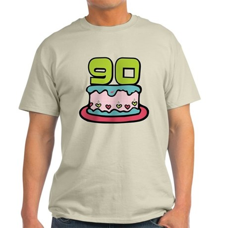 90 Year Old Birthday Cake Light T-Shirt