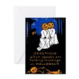 Spook Meeting Greeting Card