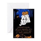 Cat halloween Greeting Cards