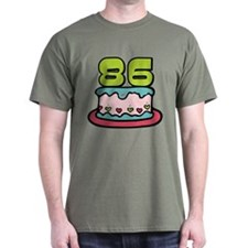 86 Year Old Birthday Cake T-Shirt
