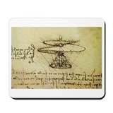 DaVinci Flying Machine Mousepad
