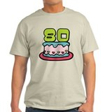 80 Year Old Birthday Cake T-Shirt