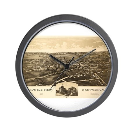 Map of Antwerp, N.Y. 1888 Wall Clock