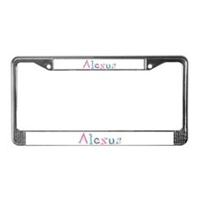 Alexus Princess Balloons License Plate Frame