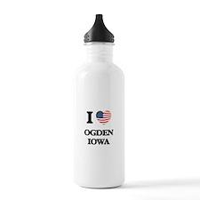 I love Ogden Iowa Sports Water Bottle