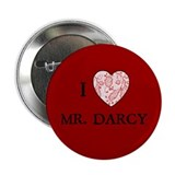 "Red ""I HEART MR. DARCY"" 2.25"" Button (10 pack)"