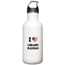 I love Girard Kansas Water Bottle