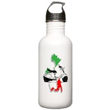 italy flag vespa Water Bottle