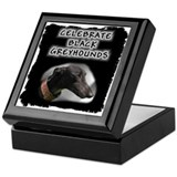 Celebrate Black Greyhounds Keepsake Box