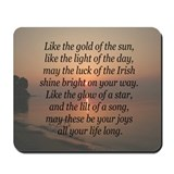 Gold of the Sun Blessing Mousepad