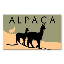 Alpacas Hillside Rectangle Decal