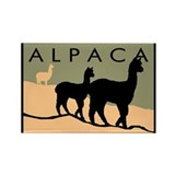 Alpacas Hillside Rectangle Magnet (10 pack)