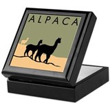 Alpacas Hillside Keepsake Box