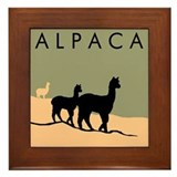 Alpacas Hillside Framed Tile