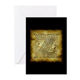 Celtic Letter Z Greeting Cards (Pk of 20)