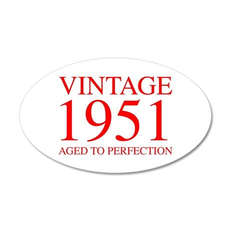 VINTAGE 1951 aged to perfection-red 300 Wall Decal