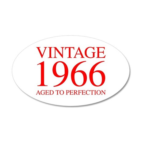VINTAGE 1966 aged to perfection-red 300 Wall Decal