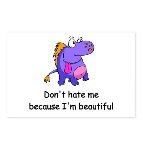 Don't hate me Postcards (Package of 8)