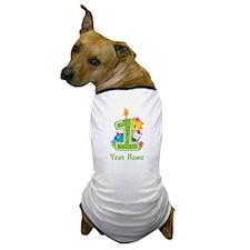 CUSTOM One Year Old Green Dog T-Shirt