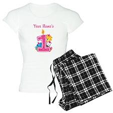 CUSTOM One Year Old Pink Pajamas